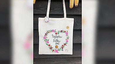 Nákupné tašky - ♥ Plátená, ručne maľovaná taška ♥ (MI15) - 10063024_