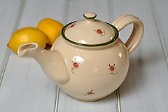Nádoby - Romantický čajník - 10062397_