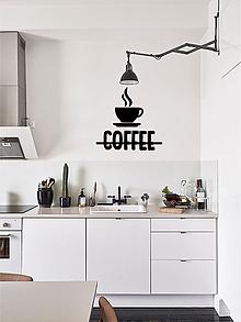 Dekorácie - 3D Nápis: Káva Coffee (Čierna) - 10065316_