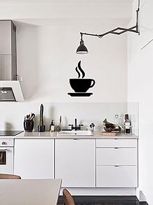 Dekorácie - 3D Šálka kávy (Čierna) - 10065363_