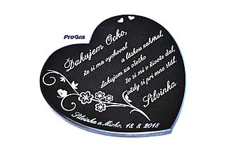 Darčeky pre svadobčanov - Žulové srdiečko s gravírom podľa priania - 10063404_