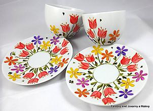 Nádoby - porcelánové šálky Rozkvitnutá lúka - 10064769_