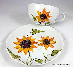 Nádoby - porcelánová šálka Slnečnica - 10064911_
