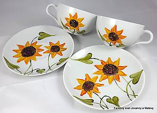 Nádoby - porcelánové šálky Slnečnice - 10064948_