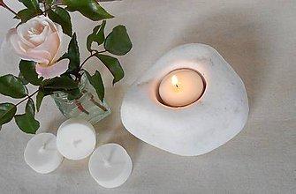 Svietidlá a sviečky - Sójová čajová sviečka + vosk z ruže (náplň) - 10064150_