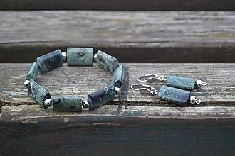 Sady šperkov - Sada Jaspis kambala v oceli - 10063561_