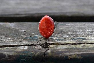 Prstene - Koral prsteň - 10064835_
