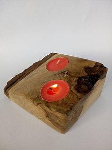 Svietidlá a sviečky - Svietnik čerešňa - 10064640_