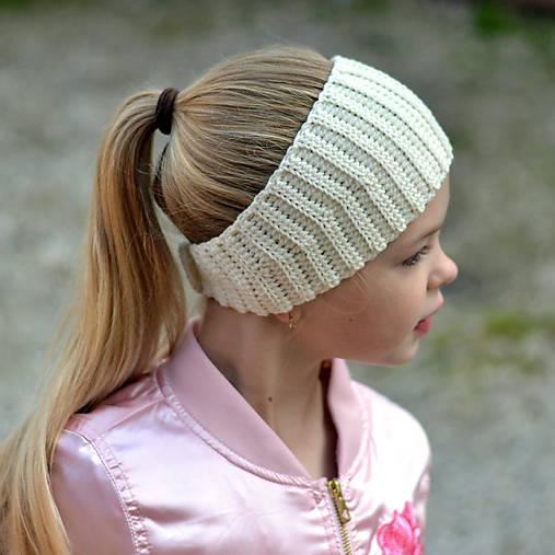 Mašľová čelenka ~ návod na háčkovanie