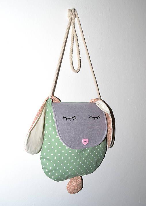 be850b68aa Zajko kabelka   DEKRET - SAShE.sk - Handmade Detské tašky