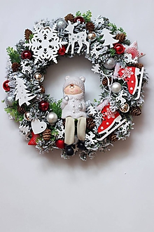 Dekorácie - Vianočný veniec10 - 10062638_