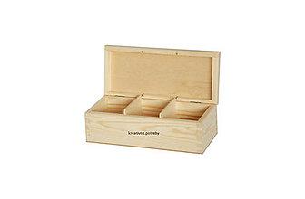 Polotovary - Krabička 3 priečinky masív - 10065010_