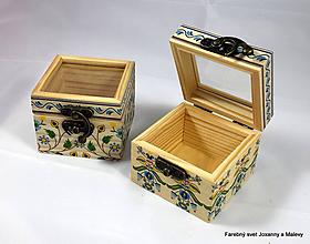 Krabičky - malinká milunká Folklórna krabička - 10064601_