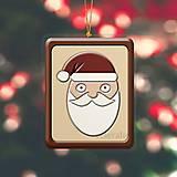 """Dekorácie - Vianočná ozdoba ,,čokoládová"""" - Santa Claus - 10062044_"""