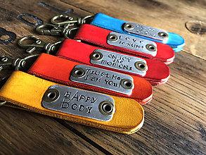 Kľúčenky - toast & jam ..fusion - prívesok na kľúče (Oranžová) - 10069094_