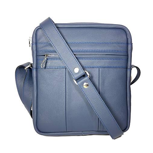 Kožená taška SPORT2 - L(modrá) 26 x 23 x 6 cm