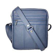 Tašky - Kožená taška SPORT2 - L(modrá) 26 x 23 x 6 cm - 10065989_
