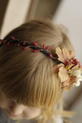 Ozdoby do vlasov - čelenka vo farbách jesene - 10065932_