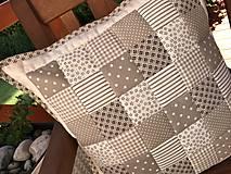 Úžitkový textil - vzor  šedo - béžovo - smotanový  (prehoz 240x200cm  - Šedá) - 10066764_