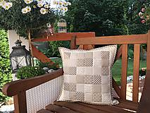 Úžitkový textil - vzor  šedo - béžovo - smotanový  (prehoz 240x200cm  - Šedá) - 10066765_