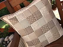 Úžitkový textil - vzor  šedo - béžovo - smotanový  (prehoz 240x200cm  - Šedá) - 10066766_