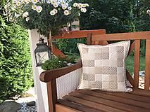 Úžitkový textil - vzor  šedo - béžovo - smotanový  (prehoz 240x200cm  - Šedá) - 10066767_