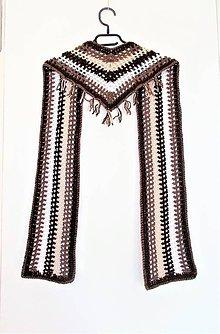 Šatky - šatka - šál so strapcami - 10068199_