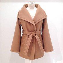 Kabáty - Vlnený kabát MAX MARA orieškovohnedý - 10067039_