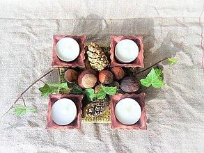 Dekorácie - Podnos na adventné sviečky štvorcový. - 10068233_