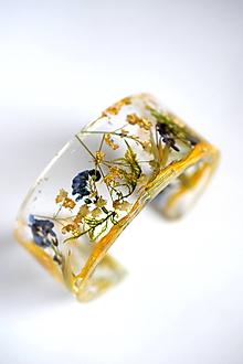 Náramky - Náramok Lúčne kvety (2524 B) - 10067465_