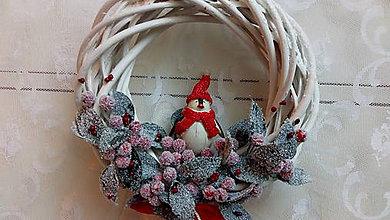 Dekorácie - Veniec vianočný... tučniak - 10069160_