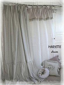 Úžitkový textil - lněné závěsy, záclony COTTAGE HOUSE II. - 10066261_