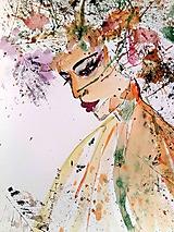 Obrazy - Akvarelový obraz Jeseň - 10068313_
