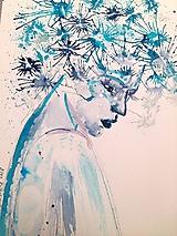 Obrazy - Akvarelový obraz - Zima - 10068475_