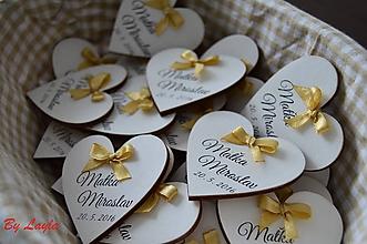 Darčeky pre svadobčanov - Svadobné magnetky - 10068406_