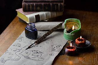 Drobnosti - pierko na písanie - brko na písanie - 10069664_