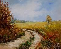 - Podzimní cesta polem - orig. olej - 10068425_