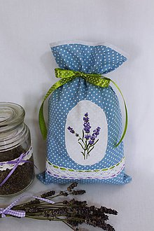 Úžitkový textil - Vrecúško s levanduľou... - 10066760_