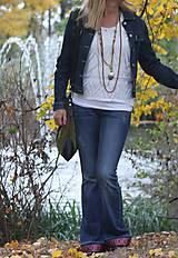 Náhrdelníky - Bohostyle náhrdelník v zemitých farbách - 10067489_