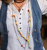 Náhrdelníky - Bohostyle náhrdelník v zemitých farbách - 10067508_