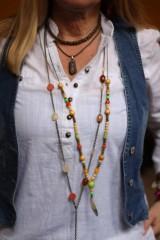 Náhrdelníky - Bohostyle náhrdelník v zemitých farbách - 10067514_
