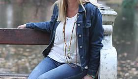 Náhrdelníky - Bohostyle náhrdelník v zemitých farbách - 10067518_