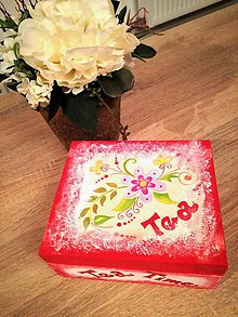 "Krabičky - ""Tea Time"" čajová krabička - 10068771_"