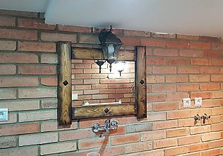 Zrkadlá - Rustikalny ram na zrkadlo - 10066214_