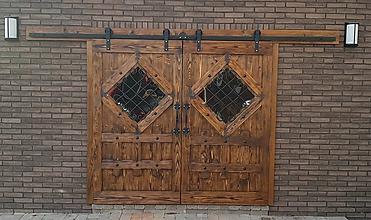 Nábytok - Rustikalne posuvne dvere - 10066262_