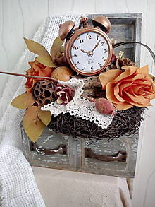 Dekorácie - jesenná dekorácia svietnik..koľko času do Vianoc?.. - 10066287_