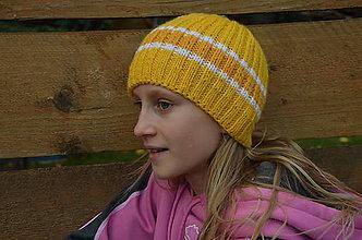 Čiapky - Detská vlnená čiapka vo farbách slniečka - 10067245_