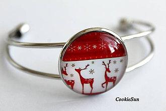 Náramky - Vianočné soby... - 10066556_