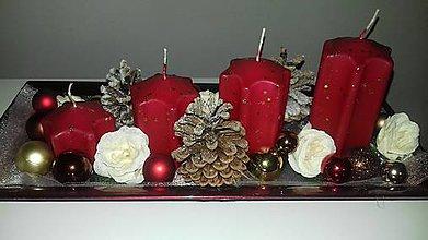 Svietidlá a sviečky - Adventný svietnik - 10068945_