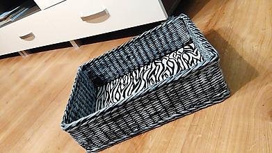 Košíky - Košík z papiera Zebra - 10066578_
